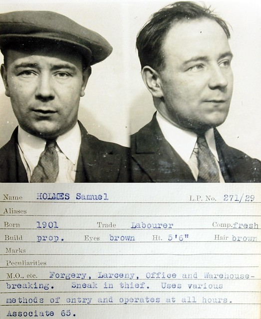 Photo of an old mugshot