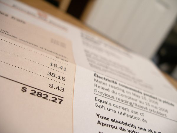 Photo of an electricity bill